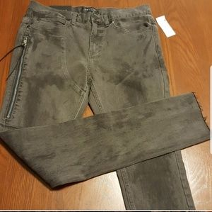 PacSun gray black washed looked zipper B316 F205